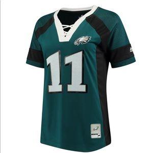Philadelphia Eagles Wentz Jersey 11 Green NFL